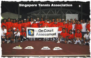 playing consistent tennis